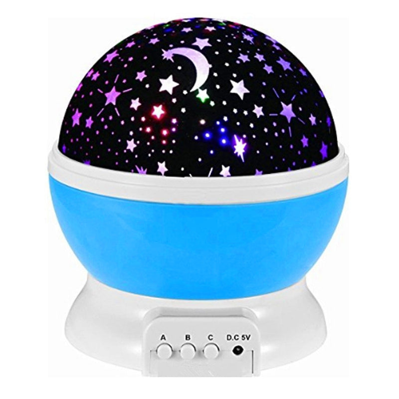 New Romantic Rotating Star Moon Sky Rotation Night Projector Light Lamp