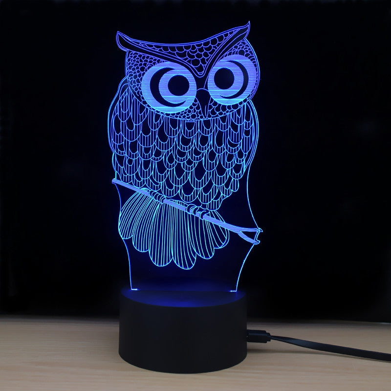 LED 3D Owl Lamp