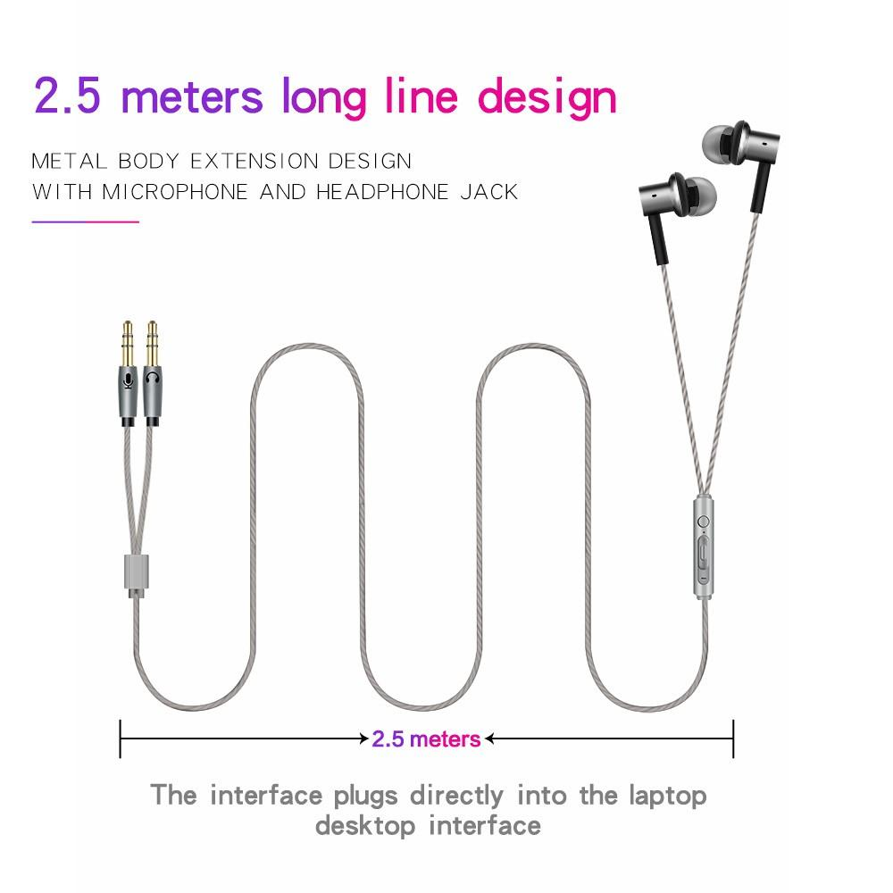 V01 3.5mm Gaming Headset In Ear Earphone Stereo Music Game Headphone with Microphone for PC Laptop Desktop Computer Gamer