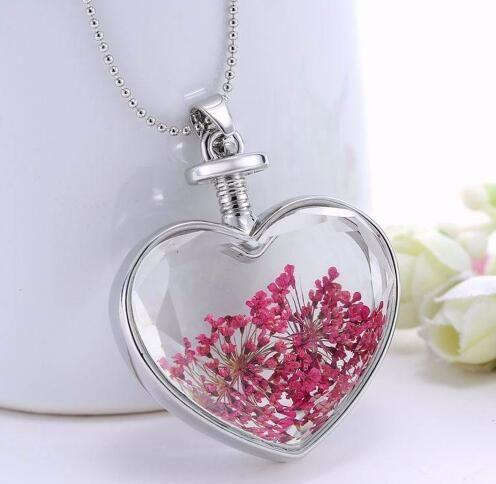 Fashion Glass Pendant Necklaces