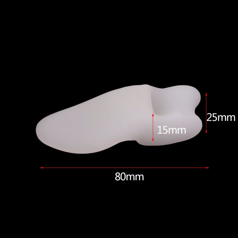 White Soft Gel Toe Separators