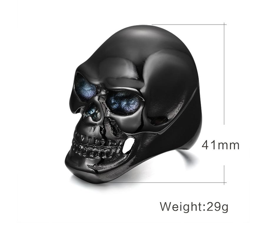 European and American punk ghost ring 2 color optional black skull ring