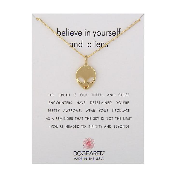 Fashion Jewelry Believe In Yourself And Foreign Pendant Necklace For Women