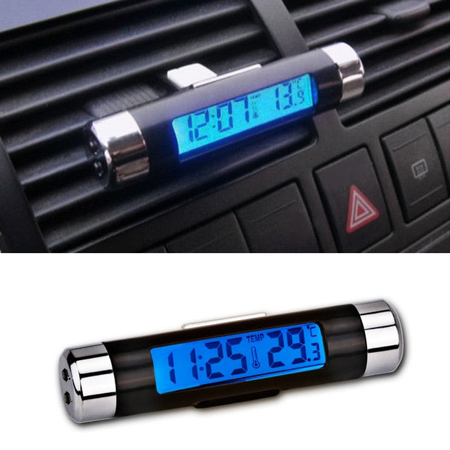 Clip-on LCD Car Clock