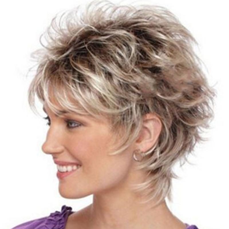 Fashionable Lady Gradient OL Short Wig