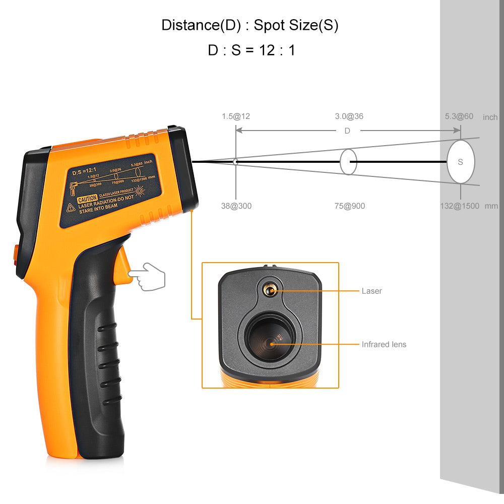 TS600 Non-contact Digital Laser Infrared Thermometer