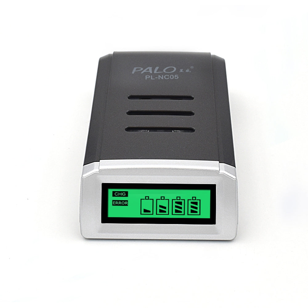 Palo NC05 4 Slots LCD Smart Charger for AA//AAA NiCd NiMh Rechargeable Battery EU