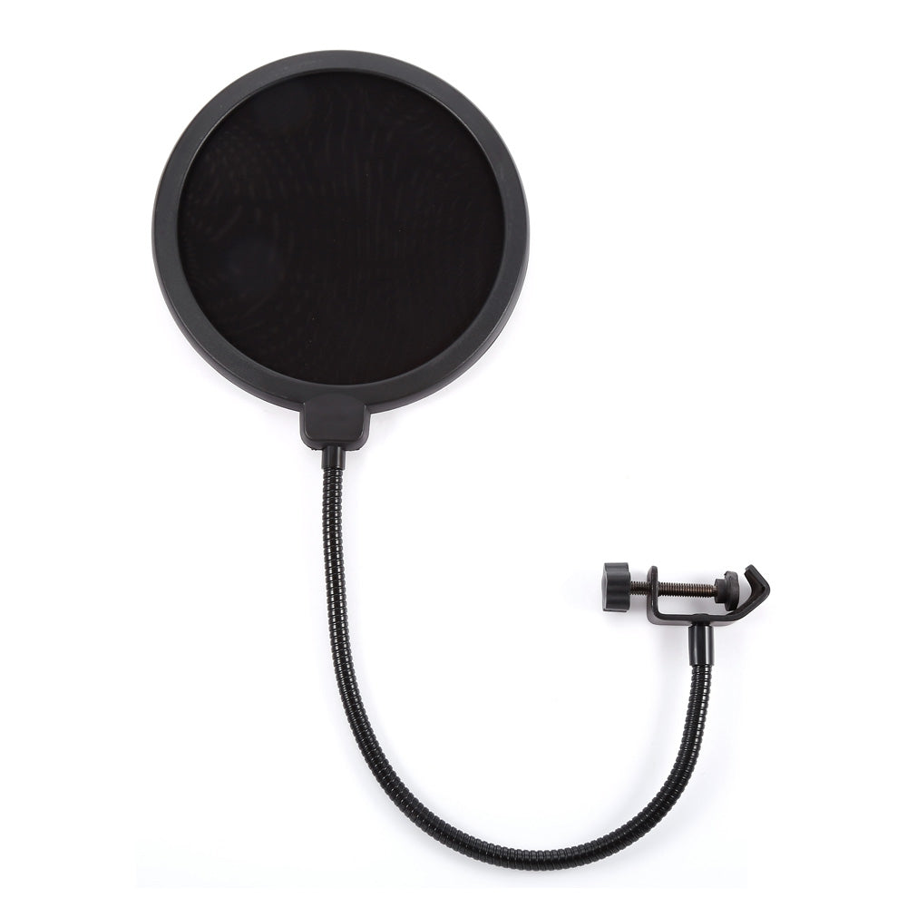 MPF - 6 6-Inch Clamp On Microphone Pop Filter Bilayer Recording Spray Guard