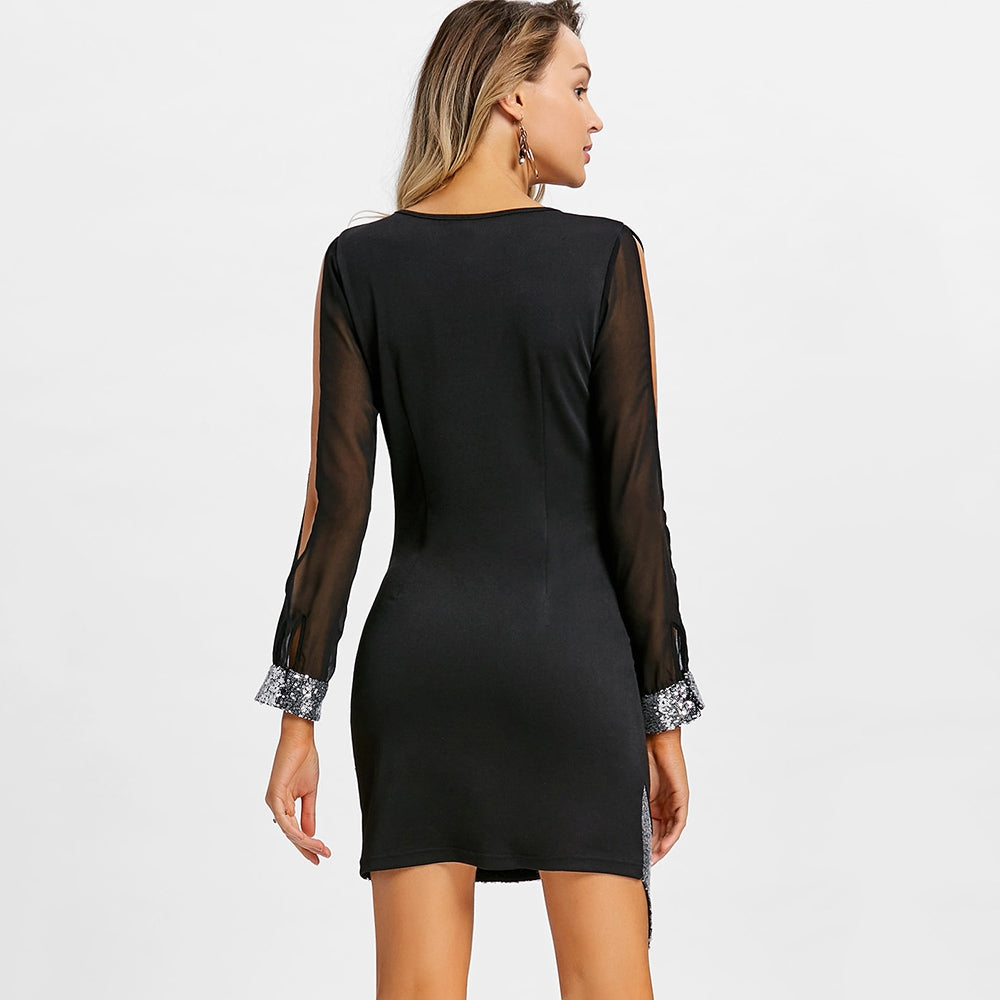 Slit Sleeve Party Dress