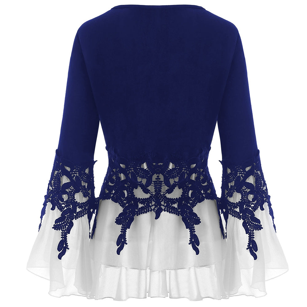 Applique Layered Blouse