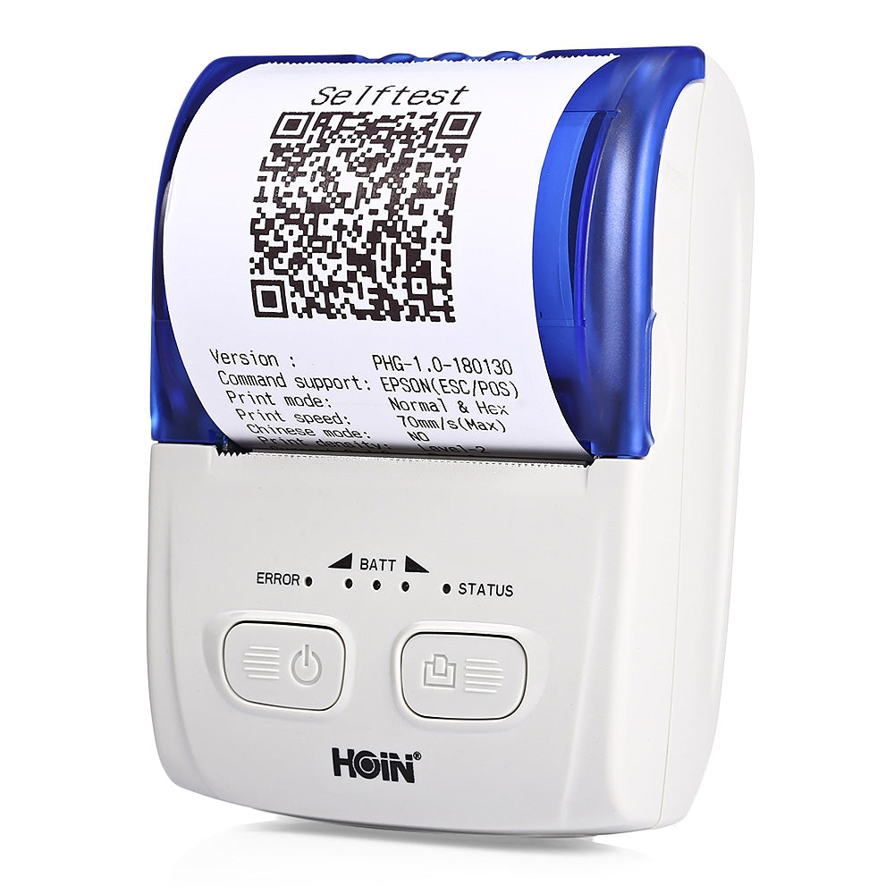 HOIN HOP - H200 Portable Thermal Printer USB Bluetooth