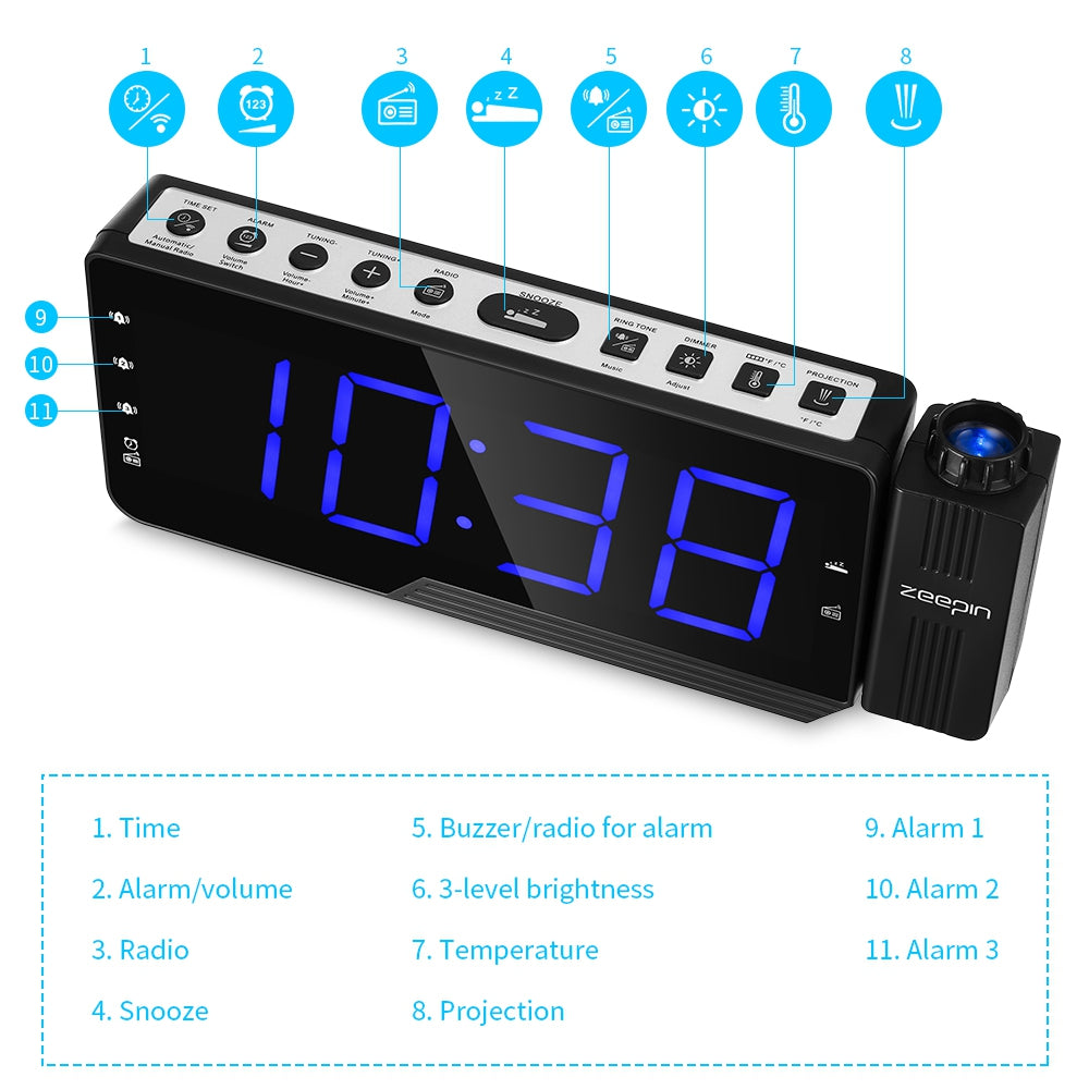Digital Projector Clock