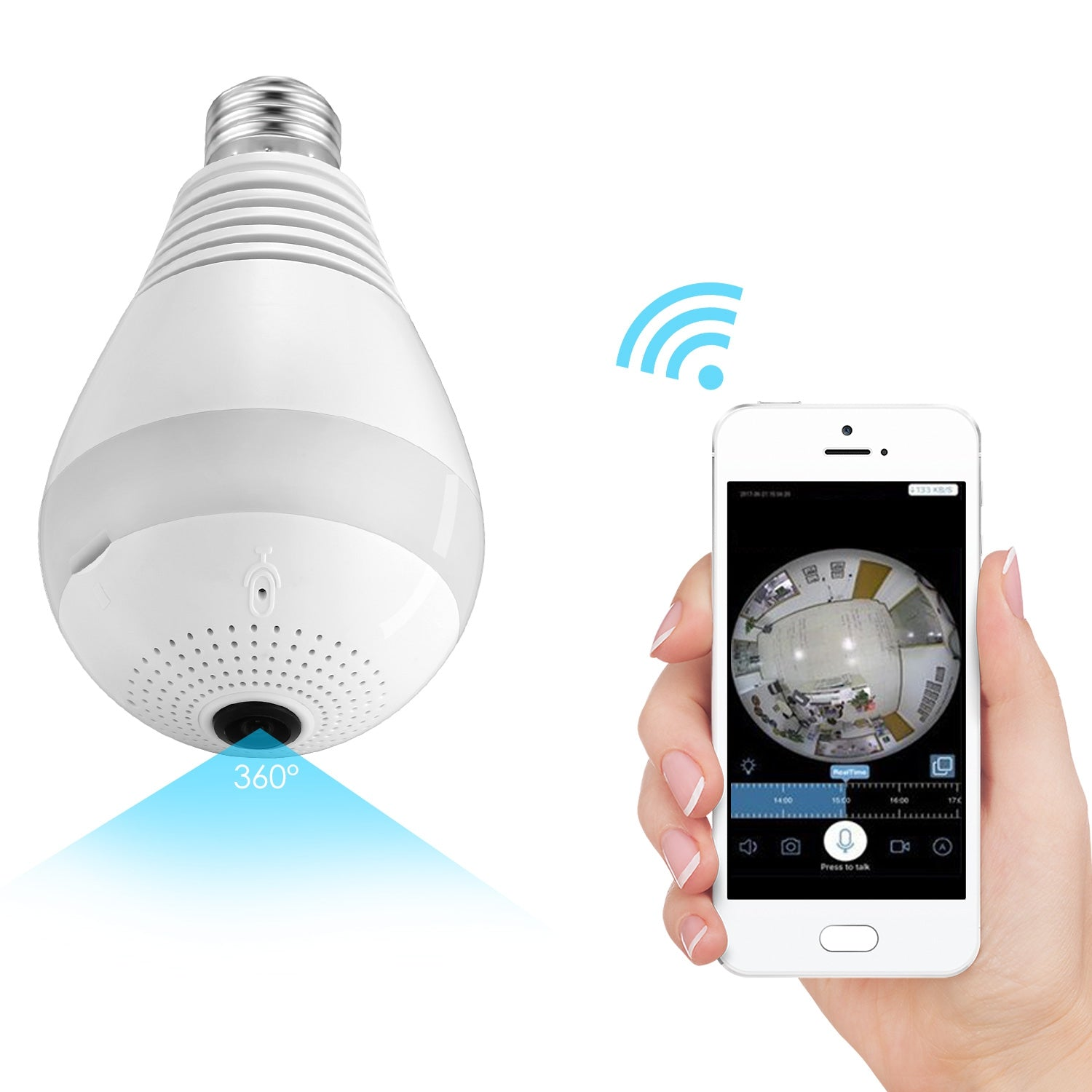 WiFi Light Bulb Camera