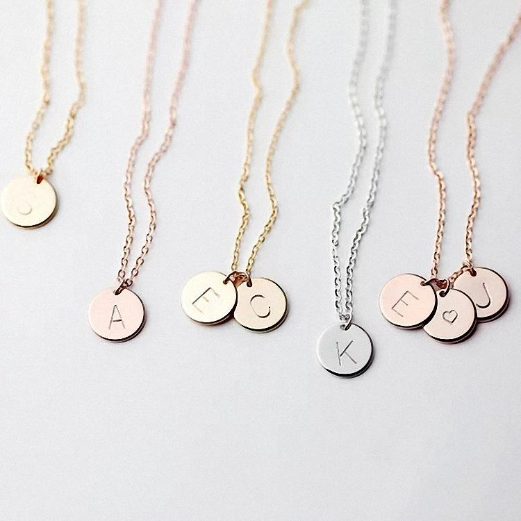 26 alloy letter necklace