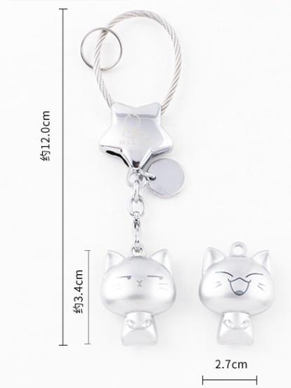 Millers keychain female creative kitten key pendant female cute key ring ring simple key chain couple