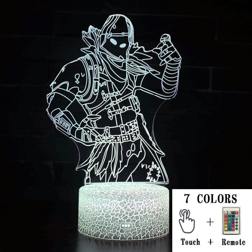 Fortnight Toys NightLight LED Sleep Light Projection Lamp Fortnight Battle Royale Scar RPG Gun Game Accessories Kids Gifts