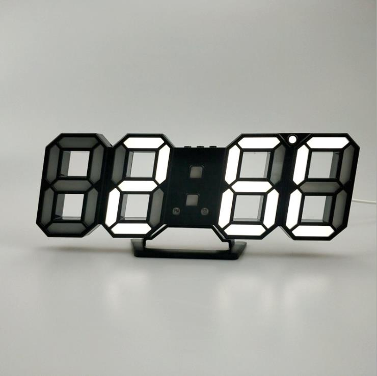 3D LED Wall Digital Clock