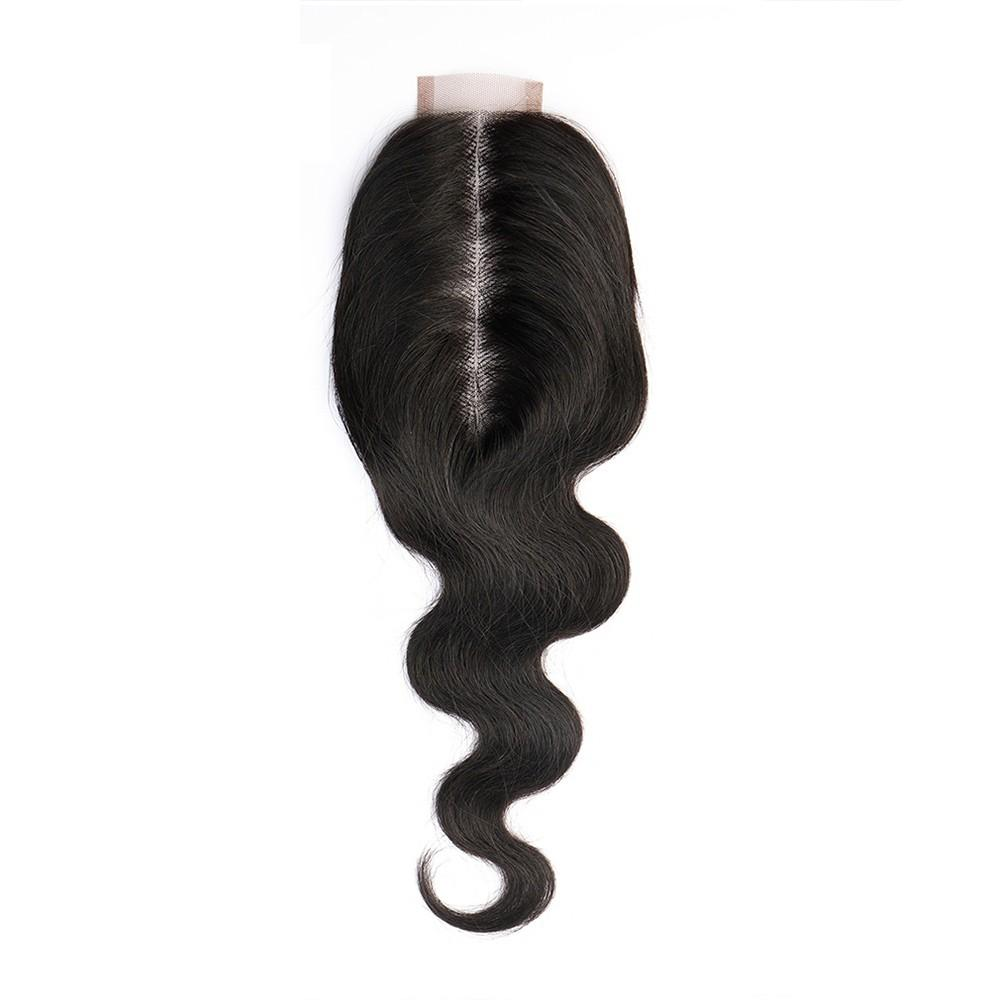 2x6 Lace Closure Body Wave Natural Color Hair Styling Human Hair 150% Density with Baby Hair for Black