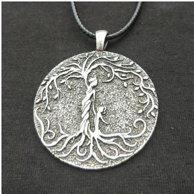 Viking tree of life necklace jewelry Mother and two children, gift for new mother mother's day gift