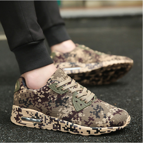 Military Style Mesh Fashion Sneakers