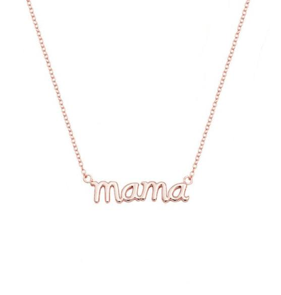 English alphabet mom holiday pendant necklace