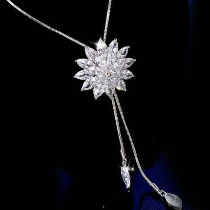 Snowflake sweater chain of zircon from Japan and South Korea