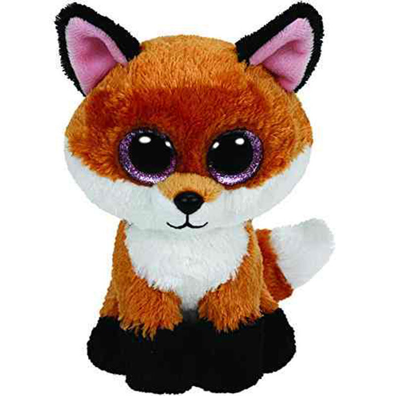 Big eyes brown fox doll to send girls to cure dolls soft coral velvet