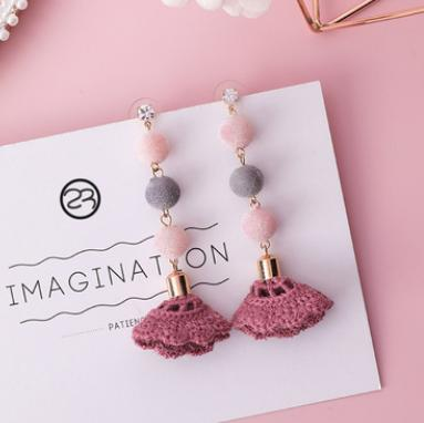 sweet pink earrings