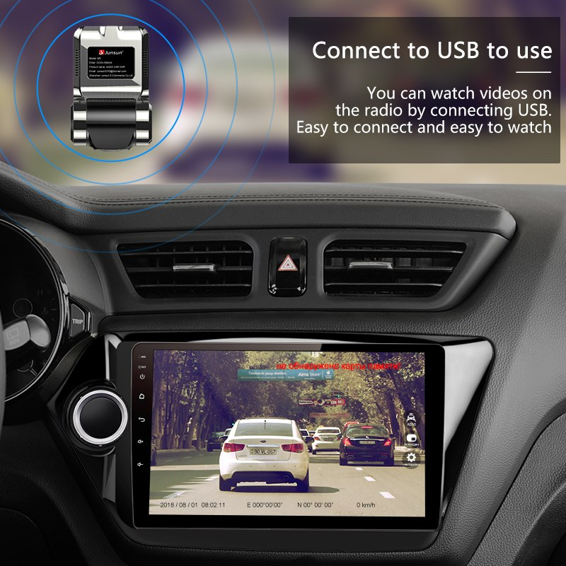 Usb driving recorder Android big screen navigation wifi driving recorder parking monitoring