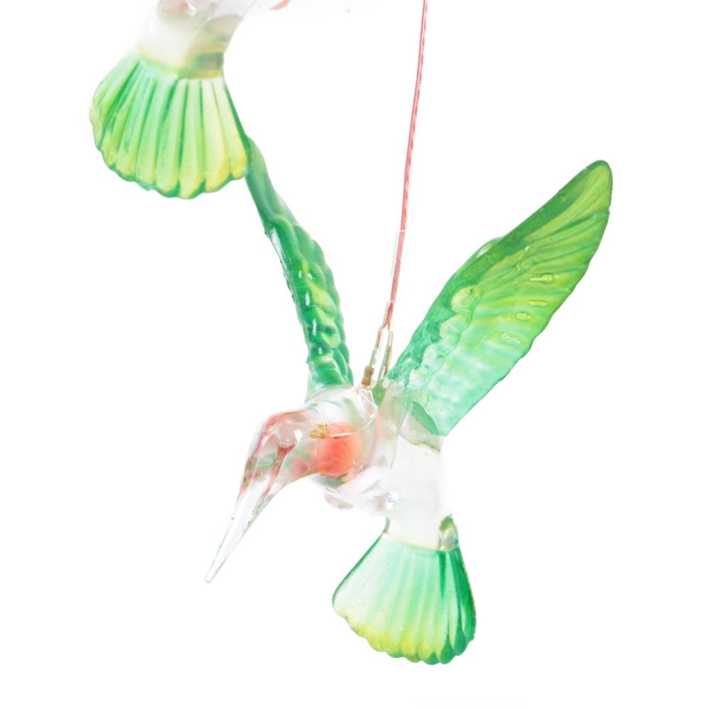 Solar Changing Color Hummingbird Wind Chime LED Hanging Lamp