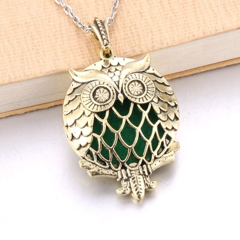 Hollow Owl and Tree DIY Aromatherapy Essential Oil Necklace
