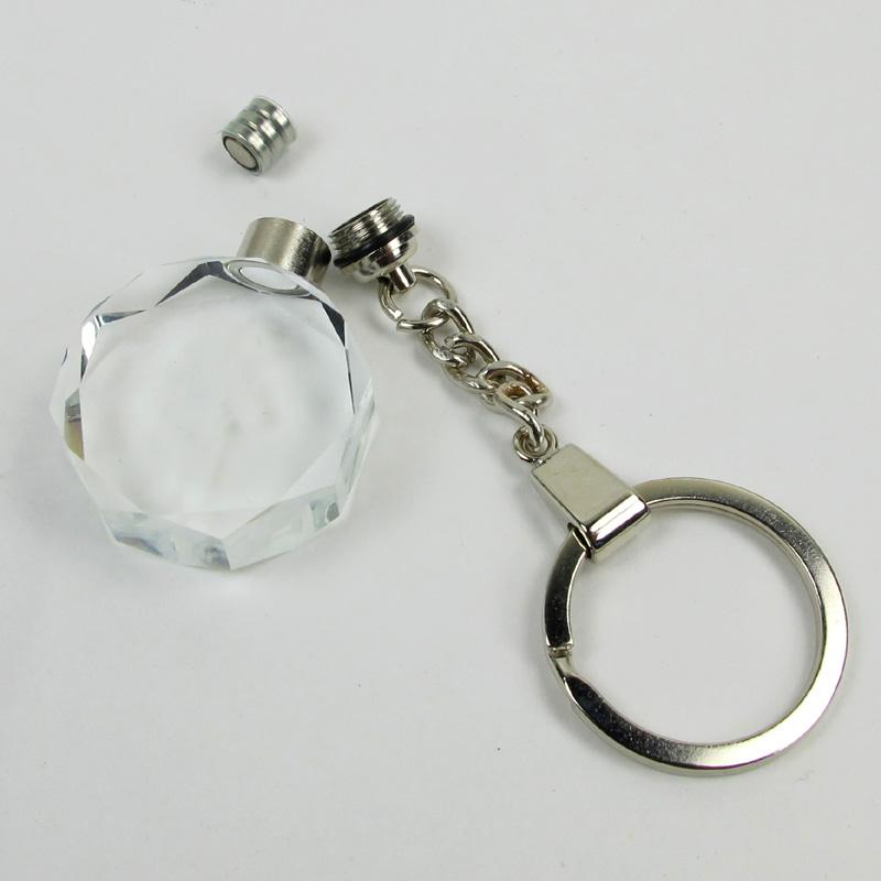 Small soy bean crystal LED light keychain
