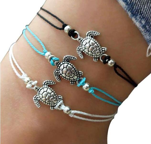 Europe and America Conch Mizhu Yoga Anklet Turtle Bracelet Beach Pendant Starfish Pearl Retro Turtle Anklet