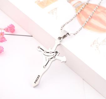 Manufacturers selling twelve men's Necklace Pendant Chain constellation titanium necklace wholesale trend of Korean character