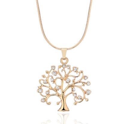 54MM Big Tree Of Life Pendant Necklaces Drilling CZ Zircon Multi Layers Chains Long Necklace Jewelry Gifts For Her