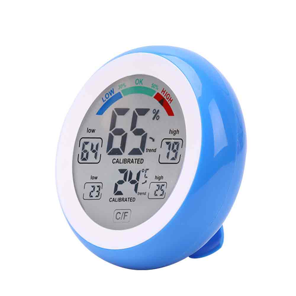 Multifunctional Digital Thermometer Hygrometer Temperature gauge Humidity Meter clock wall Max Min Value Trend Display C/Funit