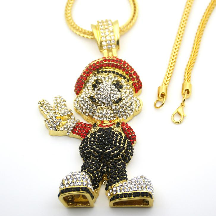 Hip Hop Game Theme Necklace Anime Cartoon Super Big Pendant Item Game Fan Collection