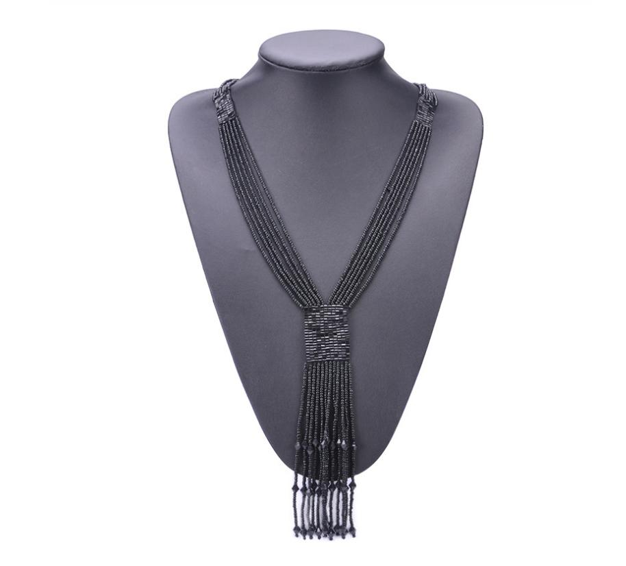 Bohemian long tassel necklace