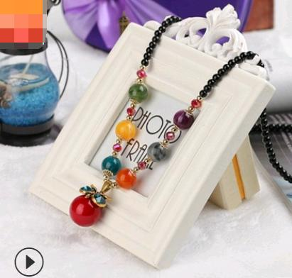 Item decoration new retro bohemian fashion sweater chain long necklace female