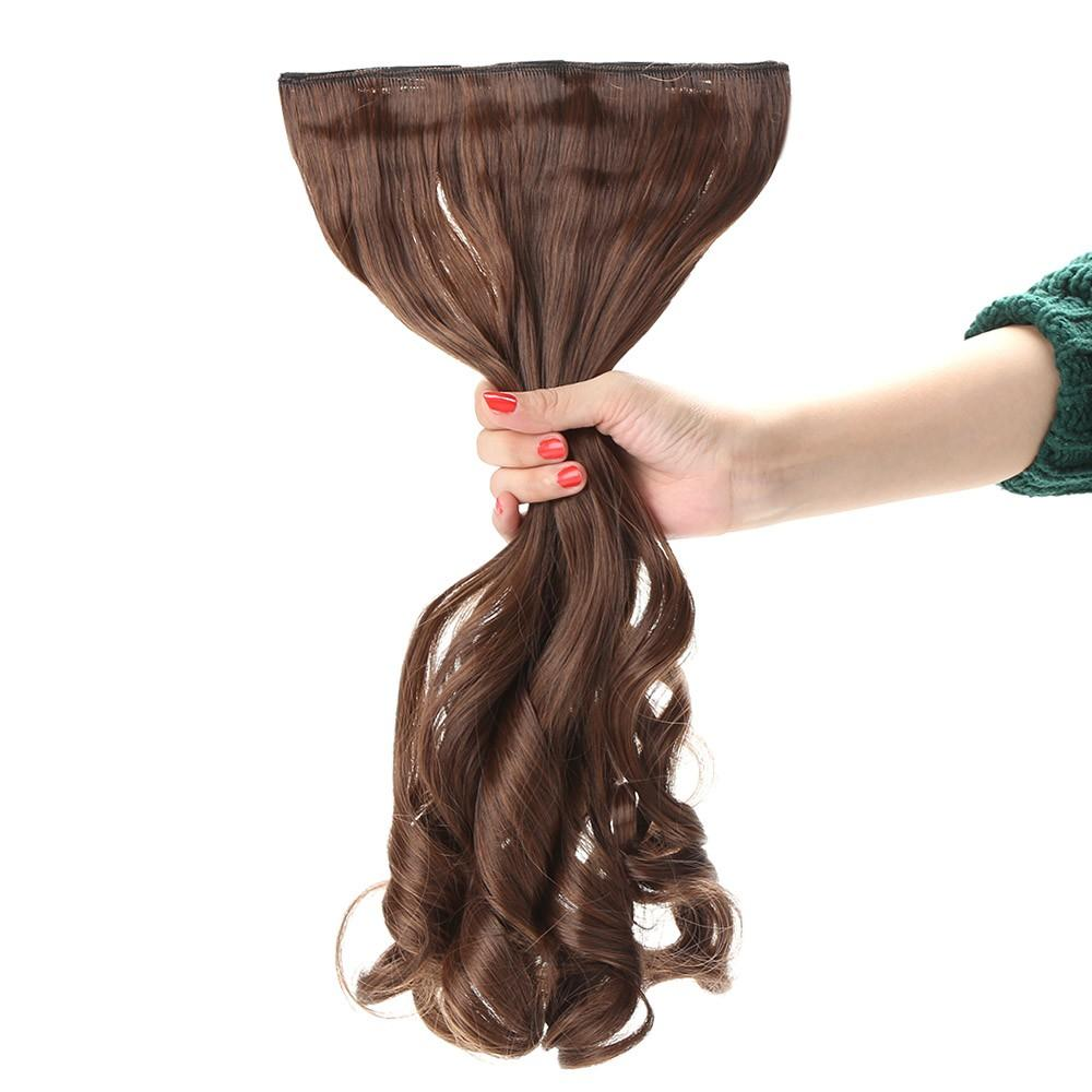 24'' 60cm Long Curly Hair Extension Women Waving Hairs 5 Clips in Hair Extensions