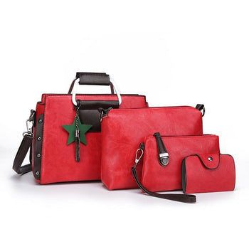 DD161527 PU Fabric Lady'S 4PCS Handbag Embossing