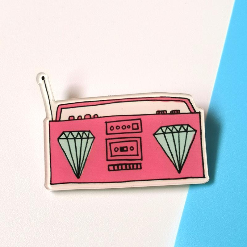 Student badge badge bag accessory pin