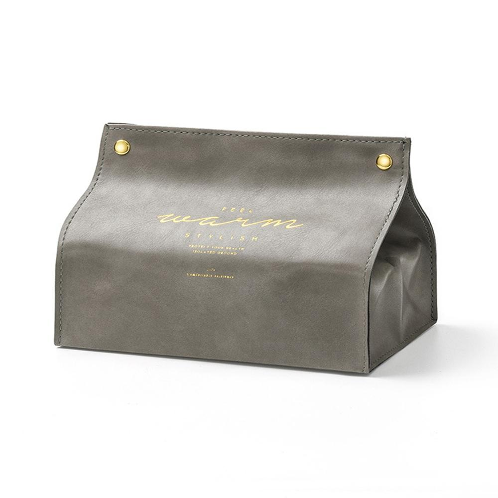 Leather Tissue Box for Napkin Toilet Paper Stylish Organizer for Home Car Office