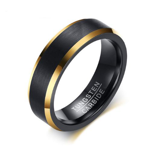 Black Gold Color Tungsten Ring Men Carbide Engagement Rings Jewelry Matte Brushed Wedding Anillos Band USA Size 5 to 15