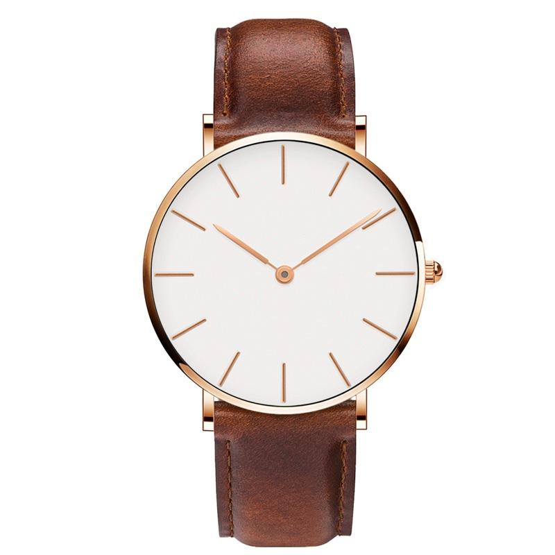 New Fashion Men Simple No Second Needle Business Casual Quartz Watch