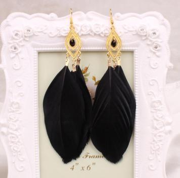 European and American feather earrings earrings National feathers Earrings