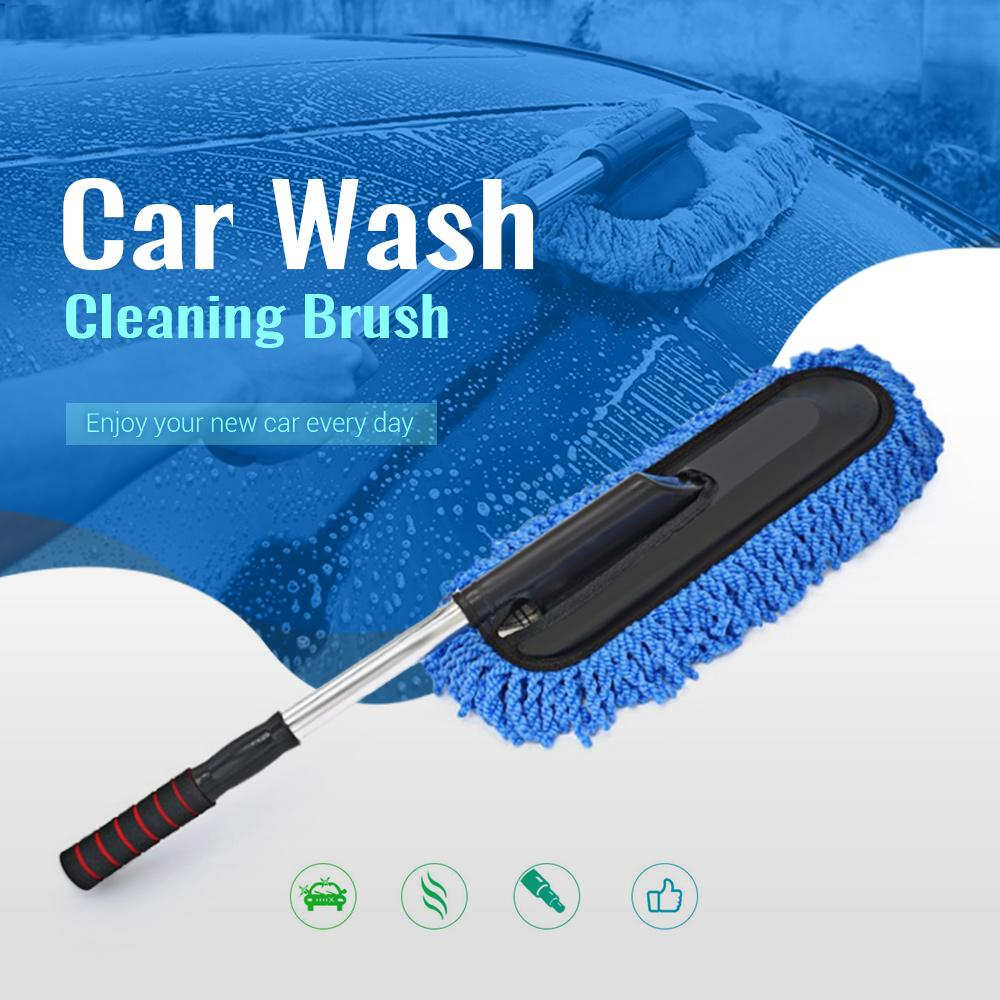 Car Wash Cleaning Brush Duster Wax Mop Microfiber Telescoping Dusting Tool