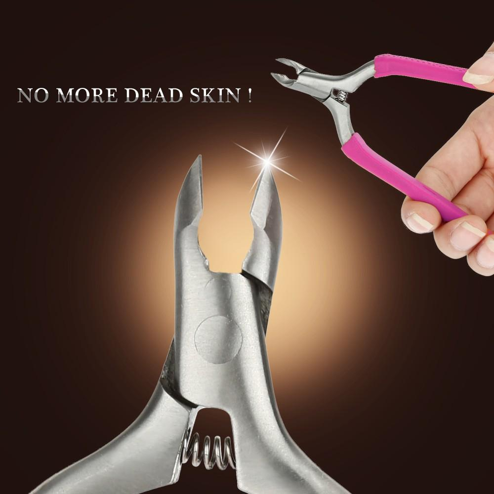 Stainless Steel Nipper Nail Manicure Trimmer Nail Clipper Toe Cuticle Art Clipper Plier Cuticle Scissors Nail Art Nipper Clipper Manicure Plier Cutter Scissors Dead-skin Remover Cuticle Clipper Nail-edge Cutter Scissor Random Color