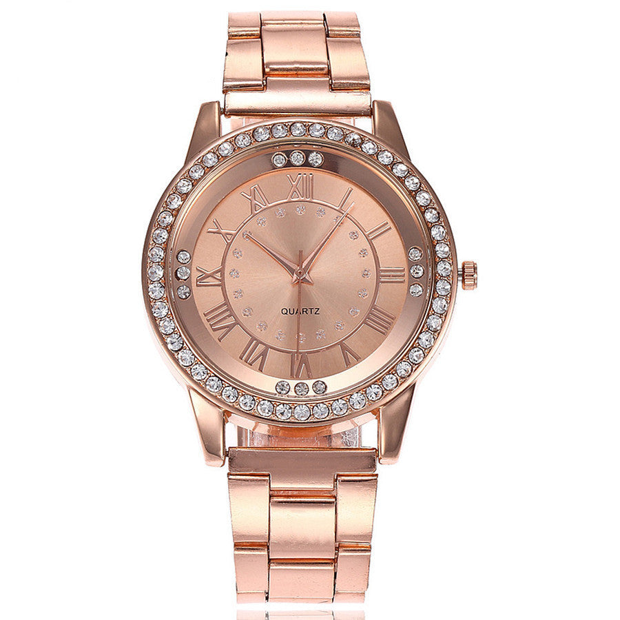 Rhinestone Quartz Watch