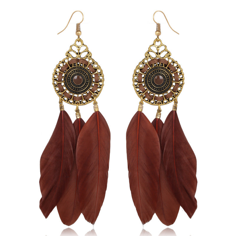 Feathery Earrings
